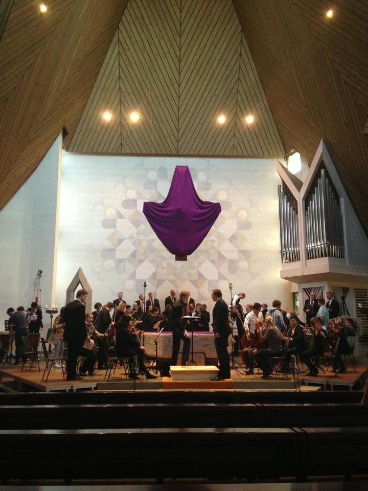 Recording Camerata Serena with Mozart Requiem