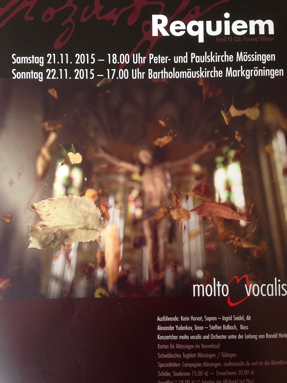 Mozart Requiem Gleim