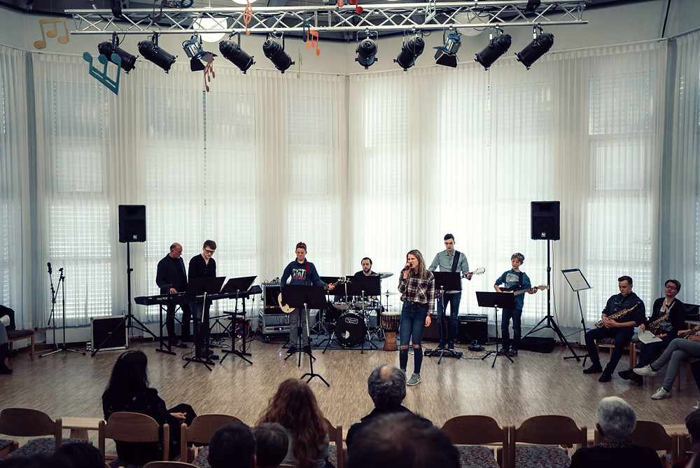 BeatZaps Band Auftritt in Musikschule Metzingen