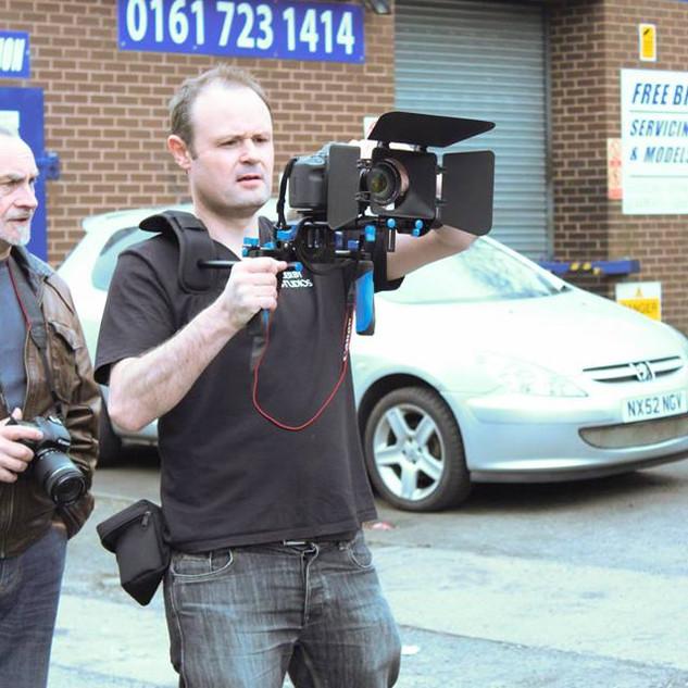 Shooting 'Carwash' advert