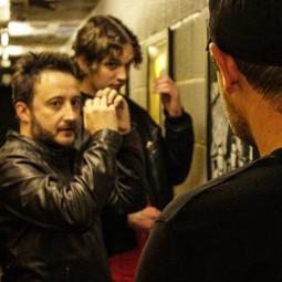 'Part of the Landscape' music video shoot.