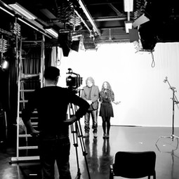 The Blackheart orchestra performing for the close up shots for 'Not over yet'  music video