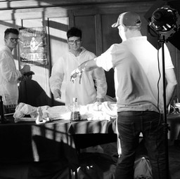 Cutwat filming in the studio for Mavmac's music video 'Shake your Ass'