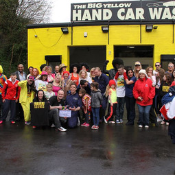 The cast and crew of advert for Carwash.