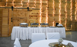 wedding buffet table at The Storehou