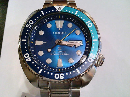 Seiko Blue TURTLE 200M Diver SRPB11K1 Green Dial Limited Edition 3500 Pieces