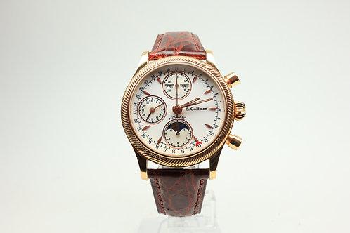 S. Coifman 18k Gold Chronograph Watch