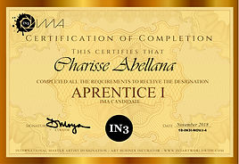 2018 - Aprentice I Certificate - Chariss