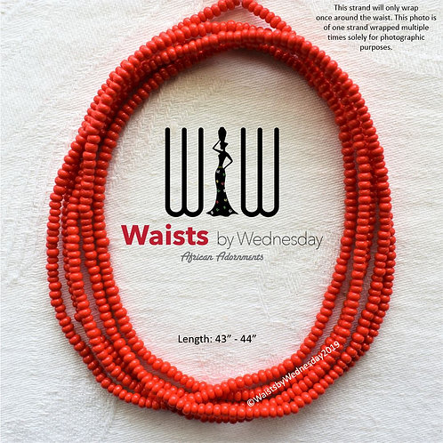 Crimson African Waist Beads