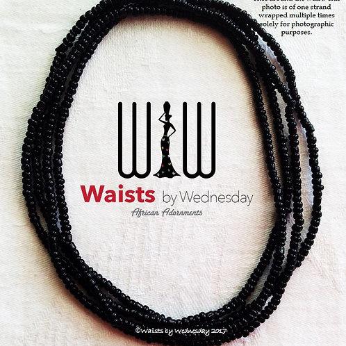 Black as the Night African Waist Beads