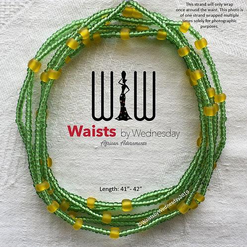 Anuli Green & Yellow African Waist Beads