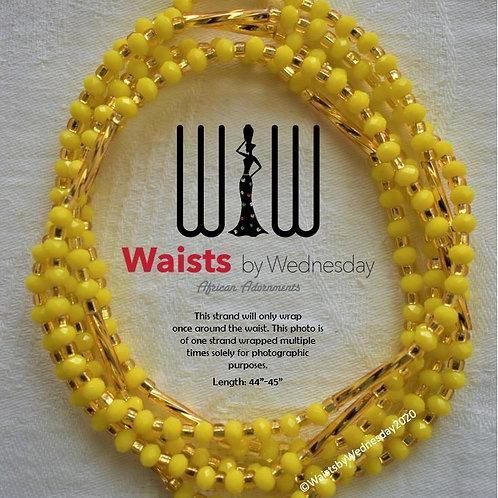 Yellow & Gold Radiance African Waist Beads