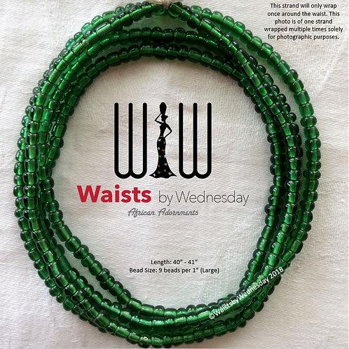 Emerald Green African Waist Beads
