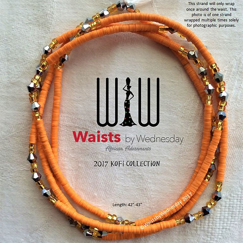 Tangerine Kofi African Waist Beads