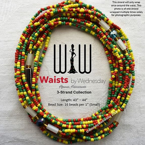 3 Strand Africana Waist Beads