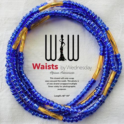 Mayinuna Blue Brilliance African Waist Beads
