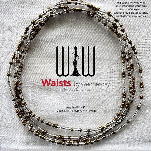 Isoke Gold & Clear African Waist Beads