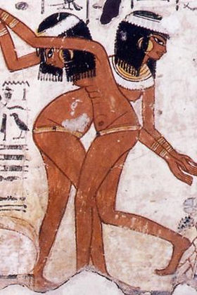 Egyptians wearing waist beads