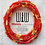 Thumbnail: Nalo Frosted Red Brilliance African Waist Beads