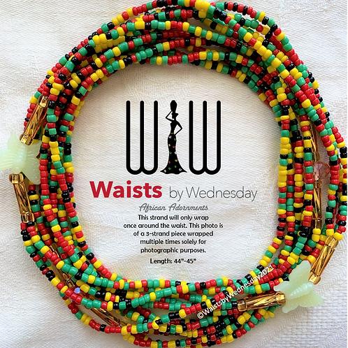 3 Strand African Glow Waist Beads