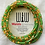 Thumbnail: Folade Frosted Green African Waist Beads