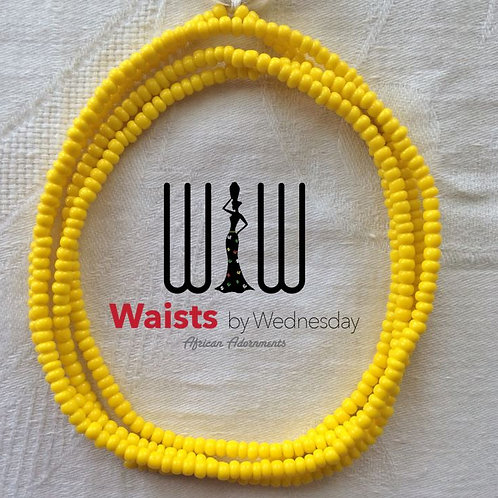 Yellow African Waist Beads