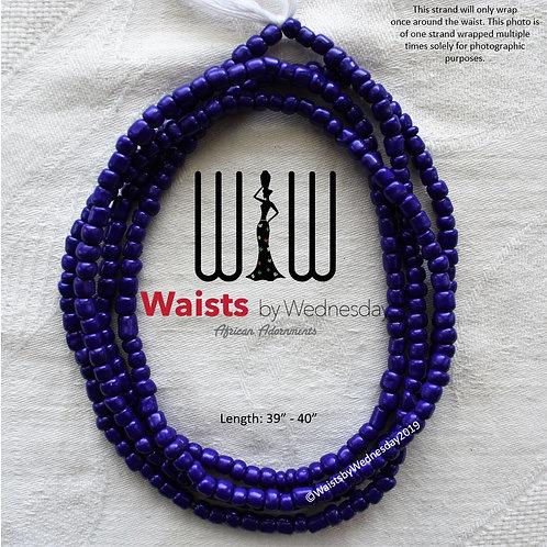 Large Blue African Waist Beads