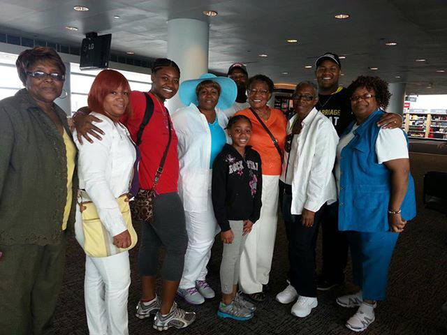group in airport