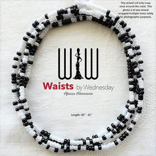 Jaha Black & Pearl African Waist Beads