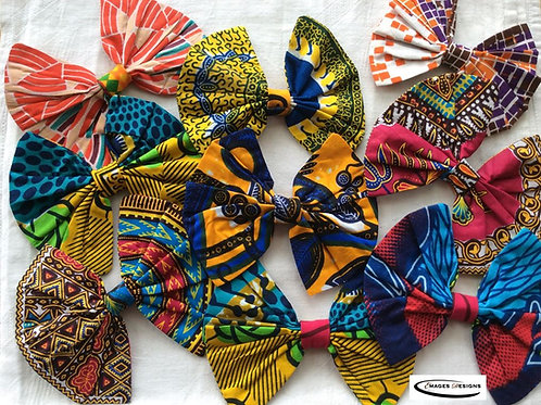 Assorted African Print Bow/Pin