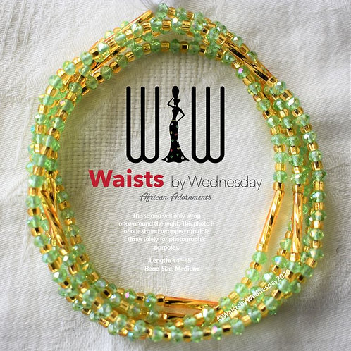 Green & Gold Radiance African Waist Beads