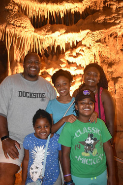 Family at the cavern in Missouri