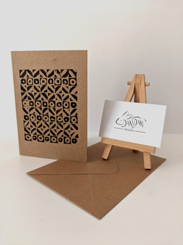 Dandan Design -Lino Print Blank Inside Card