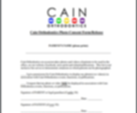 Cain Orthodontics Photo Release Form