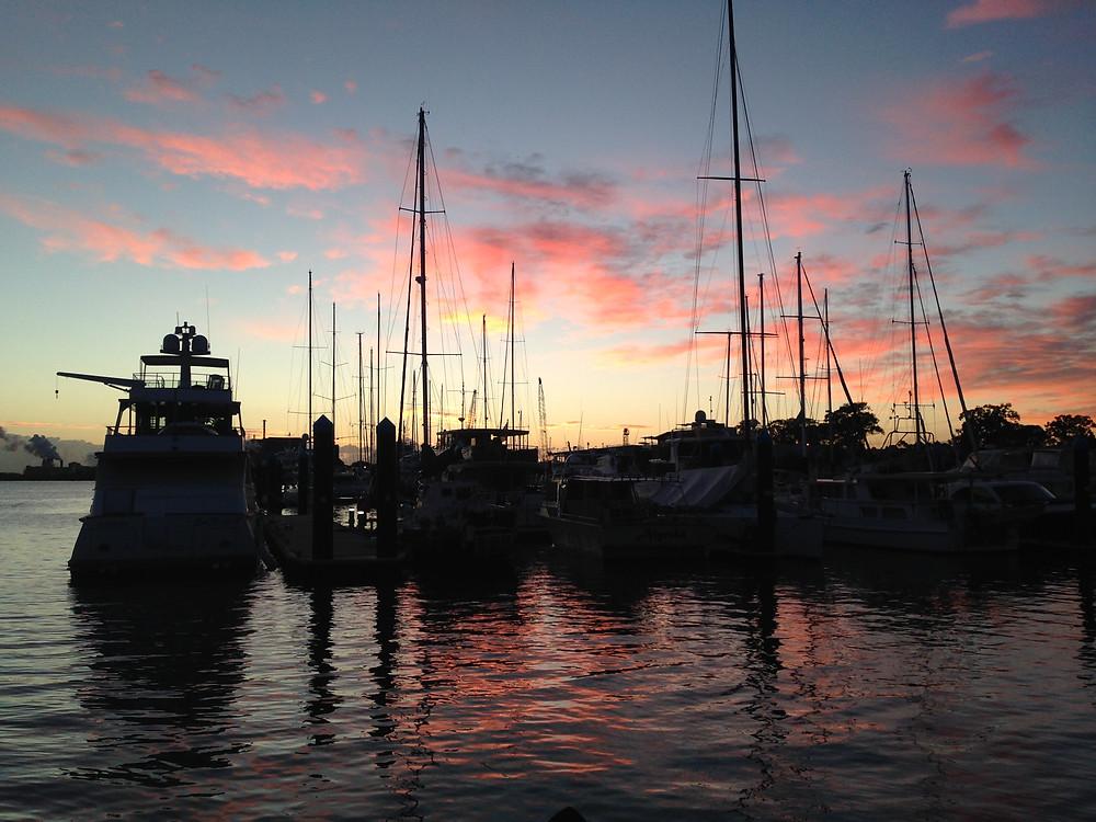 Rivergate Marina at dawn