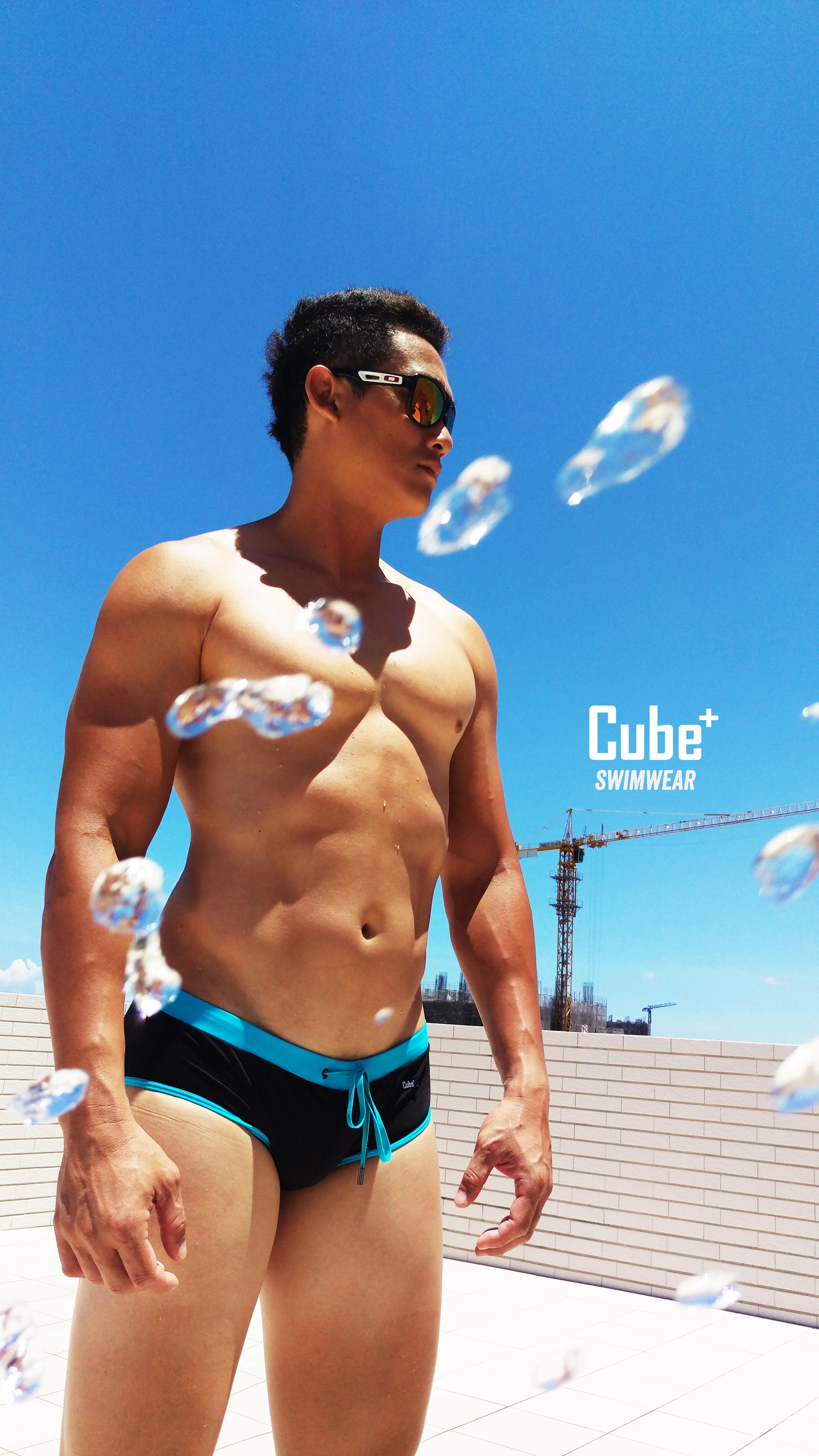 Tank-Turquoise Blue Swimwear