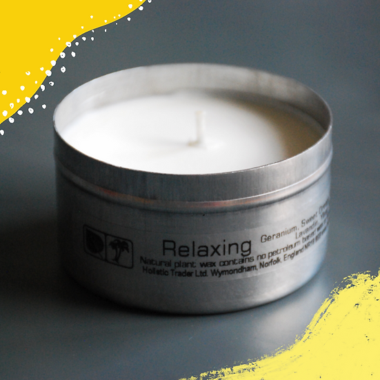 Essential Oil Natural Wax Candle Tin