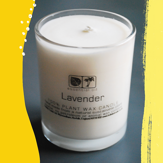 Lavender Essential Oil Aromatherapy Candle