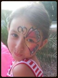 Face painting butterfly, face painting Henderson, face painting las vegas, face painting Pahrump