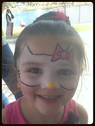 Face painting Las Vegas, face painting Henderson, face painting Boulder City, Hello Kitty, Birthday Party face painting
