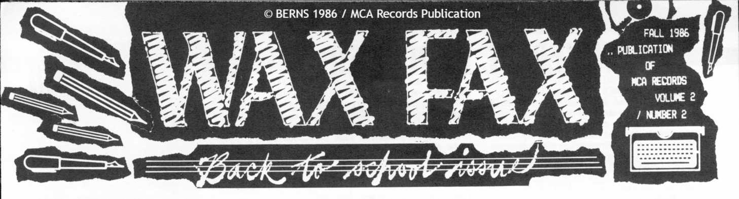 MCA Records Wax Fax
