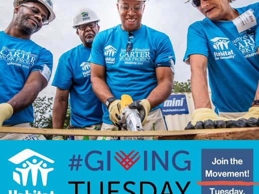 #GivingTuesday and Habitat Rabun