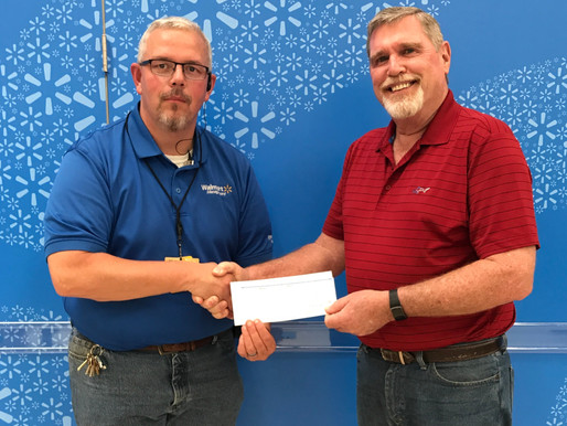 Walmart Community Grant Program Donates $1,000 to Habitat Build