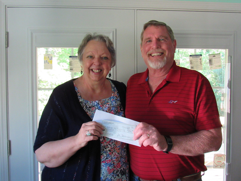 Sky Valley Garden Club donates $500 to Habitat Rabun for new home