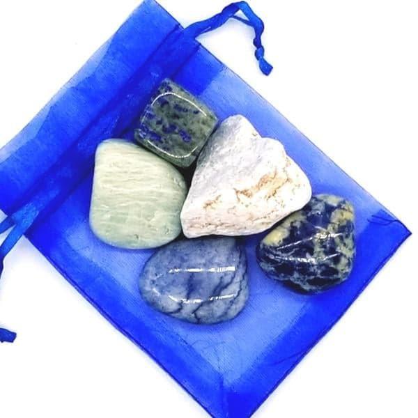 cristais do chakra da garganta