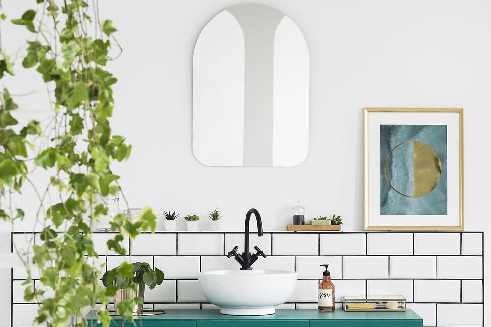 Plantas são um elemento fundamental do feng shui para o banheiro