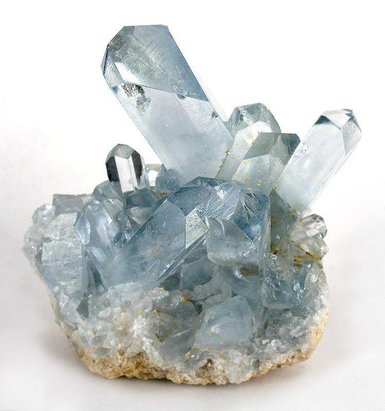 Cristal de Celestita Azul