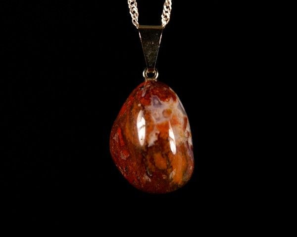 Pingente de Pedra de Sangue (ou Sárdio)