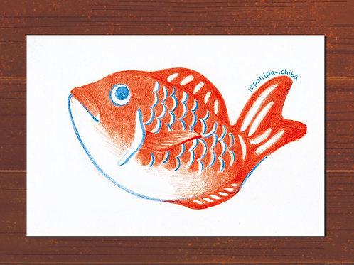 イラストポストカード2枚セット(オメデタイ)