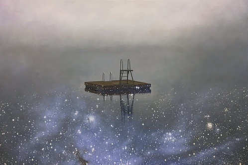Stjerneflåte. Trykk. 70 x 100cm